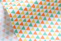 Laminated Cotton Fabric Mini Triangle Yellow By by BonitaFabric, $17.10
