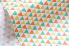 Laminated Cotton Fabric Mini Triangle Yellow By by BonitaFabric, $17.10