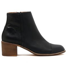 Leather Ankle Boots, Black Leather, Toe Shape, Striped Tee, Boho Dress, Block Heels, Fashion Forward, Going Out, Fashion Shoes