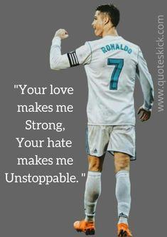 Cristiano Ronaldo C ristiano Ronaldo was born on Feb in Funchal, Madeira, Portugal. His full name is Cristiano Ronaldo d. Ronaldo Football, Messi And Ronaldo, Inspirational Football Quotes, Motivational Quotes, Cr7 Wallpapers, Ronaldo Wallpapers, Cristiano Ronaldo Quotes, Sport Quotes, Cr7 Quotes