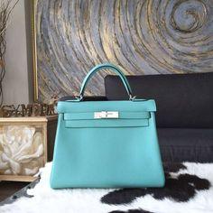 cheap hermes bags uk - hermes blue atoll togo kelly 32cm, hermes leather bags