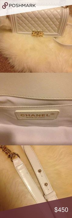 Chanel boy Price reflects! chains are heavy in very good condition. Comes with magnetic box and serial card. :) CHANEL Bags Crossbody Bags