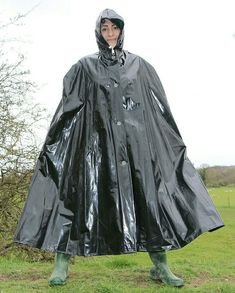 Under this PVC cape I am wearing black PVC leggings tucked into the wellies which I have pissed and shit into all week and I need you to clean me up lick me clean and toss me off