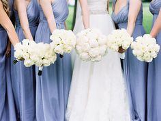 Lavender bridesmaids dresses by Amsale. Photography: Meghan Boyer Photography - meghanboyerweddings.com Read More: http://www.stylemepretty.com/2014/09/01/classic-maryland-country-club-wedding/ #ブライズメイド