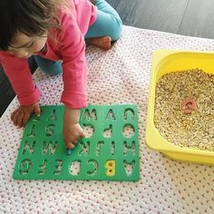 Scoope the ABC's and place them in the right spot - these foam puzzles are a…