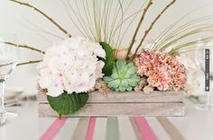 floral centerpiece by Blue Sky Flowers | CHECK OUT MORE IDEAS AT WEDDINGPINS.NET | #wedding