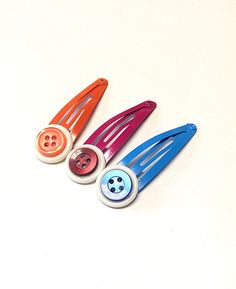 Hey, I found this really awesome Etsy listing at https://www.etsy.com/listing/234678872/colorful-hair-clips-button-hair