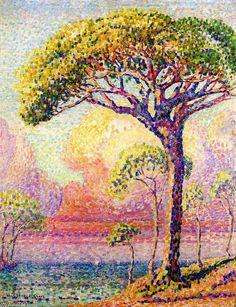 A Pine Tree, huile sur toile de Henri Edmond Cross (1856-1910, France)