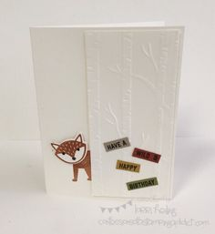 Foxy Friends Card :: Confessions of a Stamping Addict Lorri Heiling