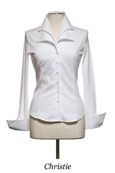 Anne Fontaine designs The Perfect White Shirt White Shirts, White Blouses, Classic White Shirt, Blouse Dress, Office Fashion, White Tops, Blouse Designs, Dress Designs, Clothes For Women