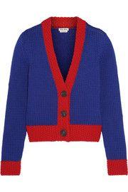 Miu Miu Two-tone wool cardigan Cashmere Cardigan, Wool Cardigan, Future Clothes, Cute Pattern, Fall Winter Outfits, Sweater Weather, Clothing Items, Everyday Fashion, Miu Miu
