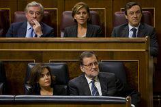 Mariano Rajoy, durante el último debate de investidura en el Congreso