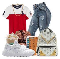 """Untitled #753"" by flawlesslyfashionista ❤ liked on Polyvore featuring Ralph Lauren, MCM, NIKE and Forever 21"