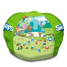 Smurfs Bean Bag Chair - http://delanico.com/bean-bag-chairs/smurfs-bean-bag-chair-533831554/