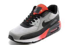 premium selection 47d59 cc212 Low-priced Nike Air Max 90 Lunar På Rea Röd Grå Vit Svart Womens Skor -  bästa Nike Skor