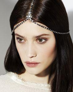 Jennifer Behr Daisy Diadem :: Swarovski crystal headpiece handmade in New York City