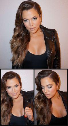 Khloe Kardashian / Hair by @cwoodhair Makeup by @etienneortega