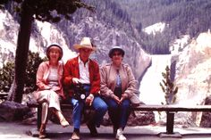 1987 Jo with Gene and Gloria Shoals at Yellowstone Falls