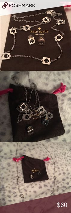 Never worn kate spade necklace and earring set Nwot marching kate spade necklace and earring set kate spade Jewelry Necklaces