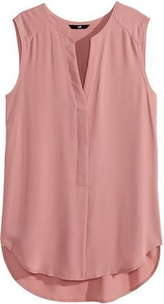 H&M - Sleeveless Blouse - Dusty rose - Ladies on shopstyle.com