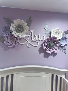 Custom Name Sign Wooden Name Baby Nursery Decor Dorm Room Wall Hanging Custom Name Wall Decor Painted Wooden Name Aria Name - Lavender nursery, Baby girl room, Baby nur -