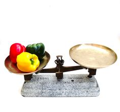 Antique French Scales Balance Roberval Cast Iron by Retrocollects £175 https://www.etsy.com/shop/Retrocollects