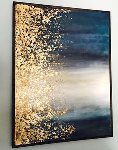 Gold leaf art artsy fartsy en 2019 painting, diy canvas art y gold Diy Wall Art, Diy Art, Craft Art, Bild Gold, Art Deco Paintings, Gold Leaf Paintings, Painting With Gold Leaf, Modern Art Paintings, Classic Paintings