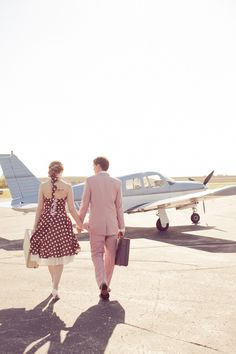 Madison Airplane Engagement Session from Heather Cook Elliott Photography – Style Me Pretty