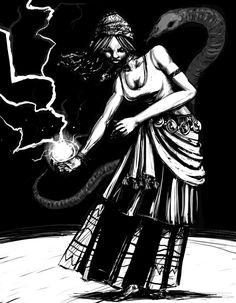 Yeye Oya , Lady of Storms by genesischant on deviantART