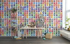 Hey,+look+at+this+wallpaper+from+Rebel+Walls,+Rainbow+Palette!+#rebelwalls+#wallpaper+#wallmurals