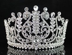 Janefashions Amazing Clear Austrian Crystal Rhinestone Tiara Crown Bridal Prom Pageant T1858 Silver * Want additional info? Click on the image.(This is an Amazon affiliate link and I receive a commission for the sales)