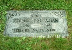 Boyajian, Stephen - The Hartford Circus Fire ~ July 6, 1944