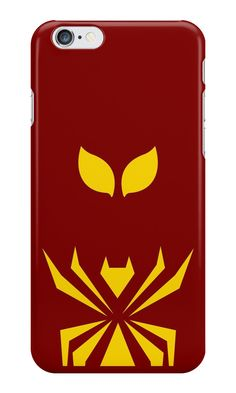 """Iron Spider Minimalist Art"" iPhone Cases & Skins by adesigngeek 