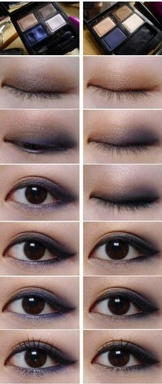 Smokey eye makeup maybe with some purple added? Makeup Set, Makeup Dupes, Makeup Inspo, Makeup Inspiration, Asian Makeup Tutorials, Ulzzang Makeup, Asian Eye Makeup, Power Of Makeup, Smokey Eye Makeup Tutorial