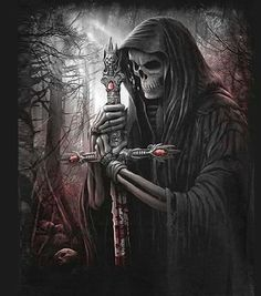 Angel After Dark. Top Gothic Fashion Tips To Keep You In Style. Consistently using good gothic fashion sense can help Grim Reaper Art, Don't Fear The Reaper, Grim Reaper Quotes, Totem Tattoo, Dark Fantasy, Fantasy Art, Angel Of Death, Tattoo Tod, Tattoo Homme