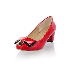 Fashion+Leatherette+Chunky+Heel+Closed+Toe+With+Bowknot+Party+/+Evening+Shoes(More+Colors)+–+USD+$+29.99