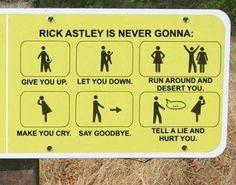rick roll.