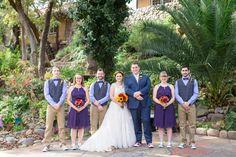 Bride and Groom Bridal Party Dark Purple Bridesmaid Dresses Bow Tie Groomsmen   Centerville-Estate-Wedding-Photographer-Chico-California-TréCreative