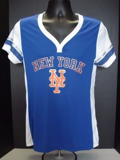 0d9b48bebb5 New York Mets Womens Majestic Poly Jersey Shirt- Free Shipping! - MSRP  45