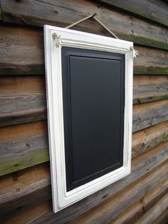 Hey, I found this really awesome Etsy listing at https://www.etsy.com/listing/176923243/large-white-framed-chalkboardupcycled