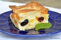 Prăjitură cu iaurt și fructe din compot sau congelate - cu foi subțiri de plăcintă | Savori Urbane