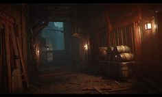 "ArtStation - Assassin's Creed Syndicate - Whitechapel East (Backalleys and Backyards at night), Bertrand ""Kali"" Bergougnoux"