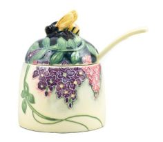 Wisteria Floral Ceramic Bee Honey Pot Old Tupton Ware by UKM Gifts. $23.98. A delicately designed honey pot and spoon. Wonderful honey Bee handle with Wisteria decoration on the side and on the spoon. Beautifully hand painted raised design.Brand new in gift box.Designed by Old Tupton WareHeight: 10cm (4 inches)Width: 7cm (2 3/4 inches)Spoon handle: 7.5cm (3 inches). Save 19% Off!