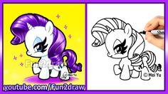 How to Draw Rarity My Little Pony - Super CUTE Fun2draw style