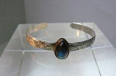Sterling Silver and Labradorite Bangle Bracelet by pmdesigns09