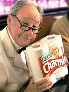 "Mr. Whipple saying, ""please, don't squeeze the Charmin!"""