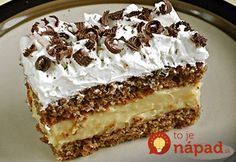 Zutaten Für den Teig: 80 g Zucker 100 g Nüsse, gemahlen 100 g Butterkekse oder Löffelbiskuits, zerbröselt 5 . Easy Cake Recipes, Sweet Recipes, Cookie Recipes, Dessert Recipes, Nut Recipes, Hungarian Desserts, Hungarian Recipes, Gateaux Cake, Walnut Cake