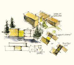 architect sketch drawing - Buscar con Google