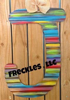 Colorful Rustic Weathered Initial