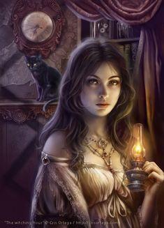 Fantasy & Sci fi art by Cris Ortega Dark Fantasy Art, Fantasy Girl, Chica Fantasy, Fantasy Women, Fantasy Fairies, Fantasy Witch, Gothic Horror, Gothic Art, Horror Art